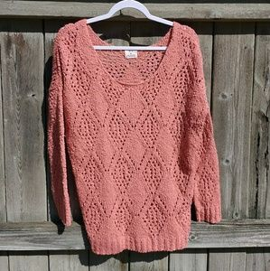 Urban Outfitters Pinky Coral Sweater Medium